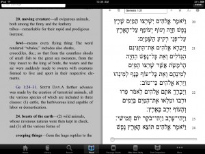 Busting out the Hebrew text plus a commentary with Logos for iPad