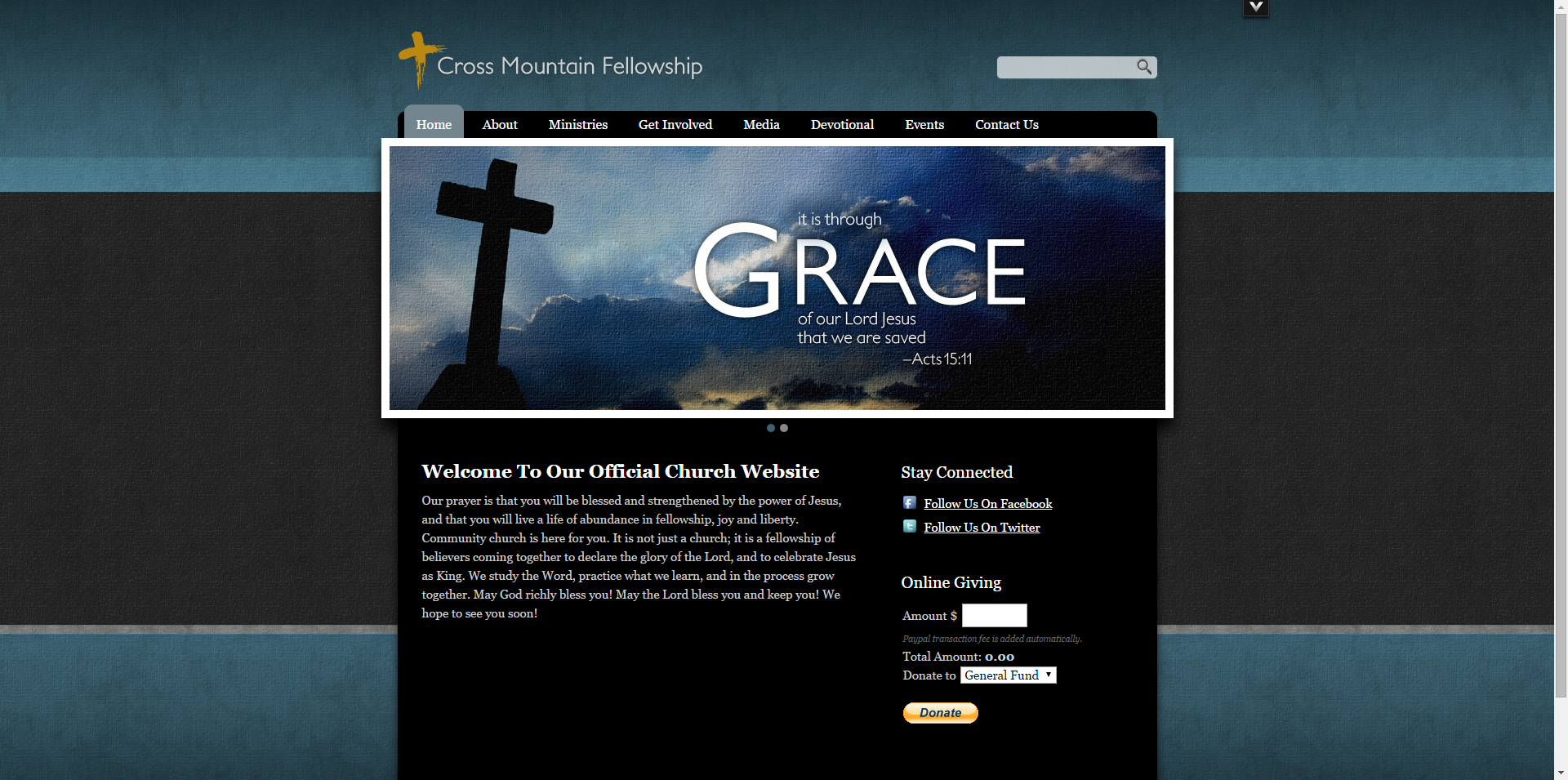 30 best church website templates for ministry and outreach Website home image