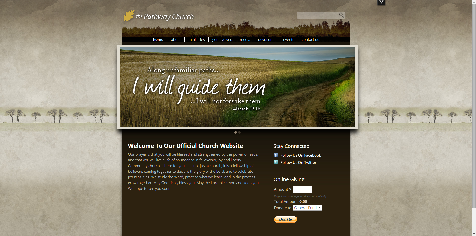 Rustic Backgrounds For Websites Rustic Woods Church Website
